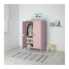 BUSUNGE Armoire, rose clair - 80x139 cm - IKEA