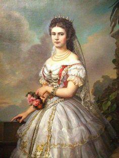 Keizerin Elisabeth in Hongaars kostuum.