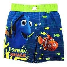 Boys Official Licensed Finding Nemo Dory Swimming Shorts Swim Trunk Shorts