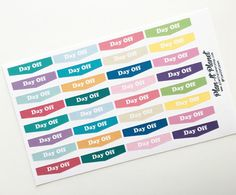 Planner stickers from Plan-It Planet on Etsy