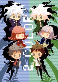 Super Danganronpa 2 || Nagito komaeda || Chiaki Nanami || Hajime Hinata