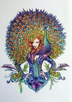 Bennett Klein, colour my Sketchbook, polychromos, adult colouring