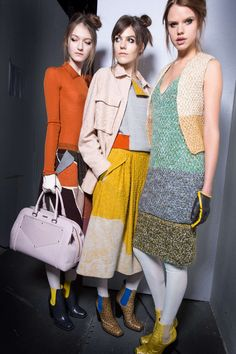 Backstage at Missoni F/W 2014