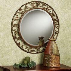 Annissa Vining Mirror and Natures Design Vase