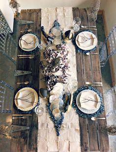 Ocean Themed Wedding Table Decor / The Perfect Match in Naples Florida