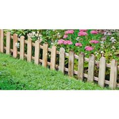 Short (28.5cm) high picket 'fence'. Would look cute around the children's play area but there would be no way of including a gate without it looking a bit oversized so not any good for keeping rabbit/chickens out of the play area. (Rabbit Houses Play Areas)