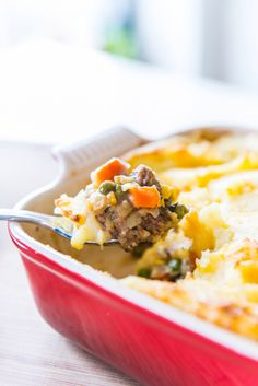 Freezer-Friendly Shepherd's (Cottage) Pie by Joanne (The Pioneer Woman) Pie Recipes, Dinner Recipes, Cooking Recipes, Turkey Recipes, Recipies, Cooking Food, Casserole Recipes, Cooking Videos, Yummy Recipes