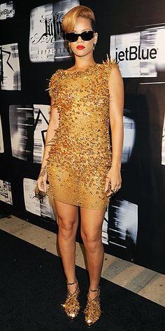 Rihanna spikes dress
