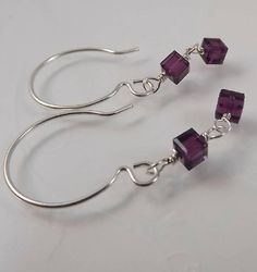 Amethyst Swarovski Crystal Cube Earrings Sundance Inspirations ~ EM #EvasMim…