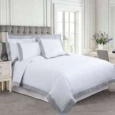 edfdd2bd1d Bed Linen | WHITE Francis Brennan the Collection Contrast Pintuck Lattice  Duvet Cover