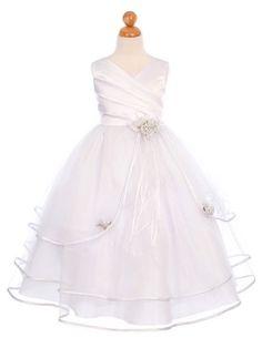 White 3 Tier Tulle Skirt Dress (Sizes 2-16). For Toria as flower girl