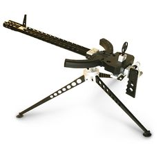 Ruger 10/22 22LR Crank - operated Gatling Gun Kit unleashes .22 cal. ammo from twin barrels. Needs two Ruger 10/22.