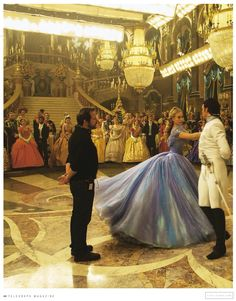 Lily James and Richard Madden behind the scenes of Cinderella