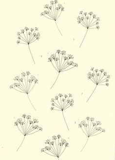 Wallpaper design. Katt Frank illustration.