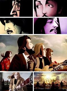 The cinematic outro to The Beatles: Rock Band is now online for your viewing pleasure. According to Smelly Cat, director Pete Candeland of Passion Pictures has created cinematics like this (and the. Stuart Sutcliffe, The Beatles 1, Beatles Art, Ringo Starr, Paul Mccartney, John Lennon, El Rock And Roll, Dark Drawings, The Fab Four