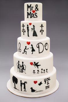 Hand Painted Wedding Cake – My wedding cakes – Wedding Cake Photos, Unique Wedding Cakes, Beautiful Wedding Cakes, Wedding Cake Designs, Beautiful Cakes, Elegant Wedding, Rustic Wedding, Painted Wedding Cake, Wedding Painting