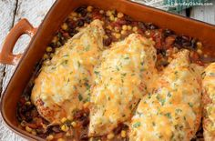 Our Santa Fe baked chicken recipe is easy to make, done in one dish and prepped in 15 minutes!