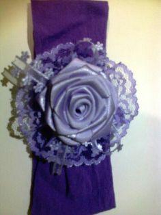 Tiaras meia de seda lilás