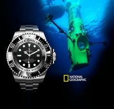 James Cameron dives to the bottom of the ocean in the Deepsea Challenger Submersible with a prototype Rolex Deepsea Challenge watch on it. Dream Watches, Luxury Watches, Rolex Watches, Watches For Men, Wrist Watches, Deepsea Challenger, Most Popular Watches, Stainless Steel Rolex, Bottom Of The Ocean