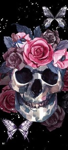 The iPhone X/Xs Wallpaper Thread - Page 70 Skull Wallpaper Iphone, Cellphone Wallpaper, Wallpaper Backgrounds, Sugar Skull Wallpaper, Skull Artwork, Skull Painting, Arte Latina, Witchy Wallpaper, Skeleton Art