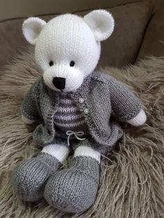 Lovely handmade teddy doll teddy bears - Lovely handmade teddy Doll teddy bears Best Picture For home projects For Your Taste You ar - Knitted Bunnies, Knitted Teddy Bear, Crochet Teddy, Knitted Animals, Knitted Dolls, Crochet Dolls, Baby Knitting Patterns, Knitting Bear, Teddy Bear Knitting Pattern