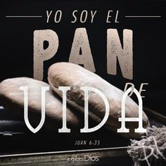 Juan 6:35 Jesús les dijo: Yo soy el pan de vida; el que a mí viene, nunca tendrá hambre; y el que en mí cree, no tendrá sed jamás. ♔