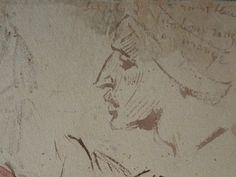 CHASSERIAU Théodore,1846 - Arabes - drawing - Détail 06 - Visage mélancolique, de profil - Melancholic face, in profil -