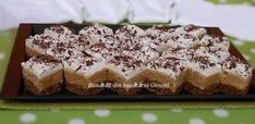 Prajitura cu blat de nuca si crema de cafea - Bunătăți din bucătăria Gicuței Krispie Treats, Rice Krispies, Biscuit, Caramel, Desserts, Food, Pies, Sticky Toffee, Tailgate Desserts