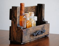 Rustic Natural Wooden Shelf Hand Crafted by revampedandrevived