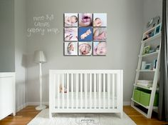 Baby Room ~ Love the 9 square sequence!