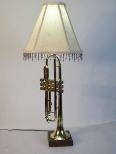 unique Custom Trumpet lamp made from re-purposed by BrightandGreen