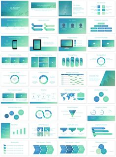 Clarity Powerpoint Template intended for Slide Deck Templates - Best Template Design Powerpoint Chart Templates, Powerpoint Charts, Powerpoint Themes, Powerpoint Presentation Templates, Presentation Slides Design, Slide Design, Booklet Design, Brochure Design, Web Design