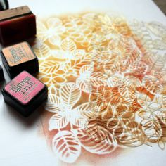 NőiCsizma | Őszi falevelek-stencil Coconut Flakes, Stencils, Spices, Container, Scrapbook, Design, Food, Eten, Spice
