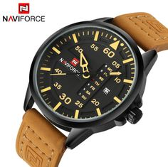 d9372a124 Luxury Brand Casual Men Sports Watches Men's Quartz Date Week Clock Man  Leather Strap Military Army Waterproof Wrist Watch