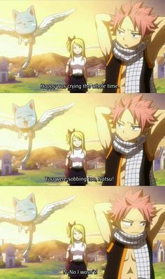 Fairy Tail, Lucy, Natsu and Happy! luv this moment! xD