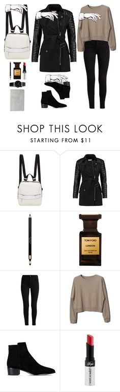 """""""My ghosts"""" by diabolissimo ❤ liked on Polyvore featuring MM6 Maison Margiela, W118 by Walter Baker, Clarins, Tom Ford, Barbara Bui, Wet n Wild and Skagen"""