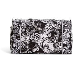 Vera Bradley Large Duffel Travel Bag in Midnight Paisley ($85) ❤ liked on Polyvore featuring bags, luggage, bridal party gifts, gifts and midnight paisley