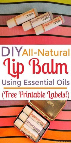 If you are looking for an easy beauty DIY or handmade gift idea, you must try making All-Natural Lip Balm with Essential Oils! Gift ideas, handmade gift, DIY gift, holiday gifts, free printable, Essential oils, gifts for mom, gifts for her, teacher gifts