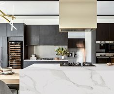 Planning a kitchen update or bathroom renovation? Essastone Unique Calacatta by Laminex is an affordable, hard-wearing alternative to marble. Beautiful Kitchen Designs, Modern Kitchen Design, Beautiful Kitchens, Beautiful Homes, Updated Kitchen, Diy Kitchen, Kitchen Decor, Kitchen Ideas, Gold Kitchen