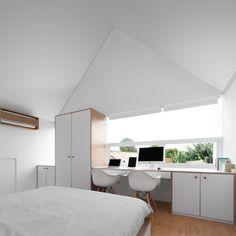 증축을 염두에 두고 지은, 신혼부부의 미니멀리즘 주택, MO House : 네이버 블로그 Duplex Design, Loft Design, Tiny House Design, Minimalist Furniture, Minimalist Home, Minimalist Architecture, Architecture Design, Journal Du Design, Living Place
