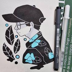Kpop Drawings, Ink Pen Drawings, Easy Drawings, Notebook Art, Cute Paintings, Harry Potter Art, Art Sketchbook, Aesthetic Art, Drawing Reference