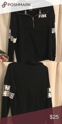 VS Pink Sweatshirt Worn 2 times! Great condition!! PINK Victoria's Secret Tops Sweatshirts & Hoodies