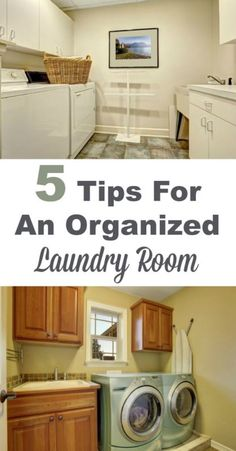 5 tips for an organized laundry room, so you can get your laundry done more quickly with less hassle and aggravation. #ad