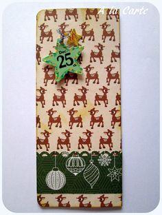 pochette cadeau pour Noël (fermeture par velcro) : Autres papeterie par sylviealacarte
