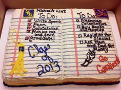 Graduation Notebook cake
