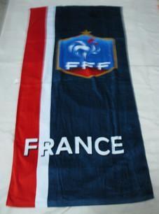 France  cotton bath towel   size:145x75cm