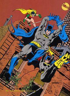 Batman, Robin, and Batgirl by Jose Luis Garcia-Lopez Batgirl And Robin, Batman And Batgirl, Im Batman, Batman Robin, Batman Art, Superman, Batman Drawing, Robin Dc, Dc Comic Books