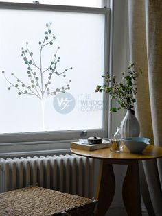 Frosted Window Film - I have this design on our living room windows.