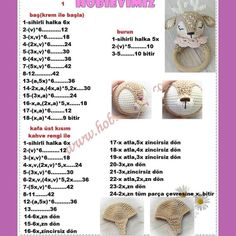 Octopus Crochet Pattern, Crochet Teddy Bear Pattern, Crochet Baby Toys, Crochet Bows, Crochet Amigurumi Free Patterns, Crochet Bunny, Free Crochet, Amigurumi For Beginners, Crochet Bookmarks