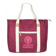 Franklin & Marshall Shopper Bordeaux solid